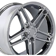 chrome corvette wheels amazon com 18x9 5 wheel fits corvette camaro c6 z06 style