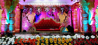 marriage decoration wedding stage decoration vel sokkanathan thirmana nilayam