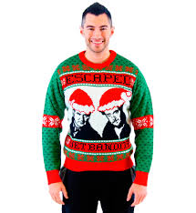 alone wet bandits ugly christmas sweater