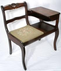 vintage frankson mahogany wood telephone phone table gossip chair