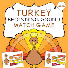 thanksgiving turkey beginning sounds letter match activity tpt