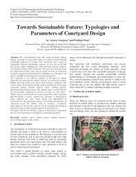 towards sustainable future typologies and parameters of courtyard