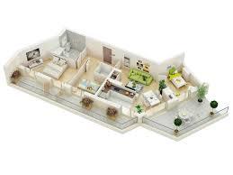 3 D Floor Plans by 25 More 3 Bedroom 3d Floor Plans Ideachannels