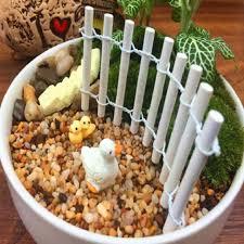 pots cuisine d oration 3pcs micro landscape wooden fence miniature dollhouse pots decor