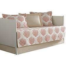 amazon com laura ashley 5 piece coral coast daybed cover set