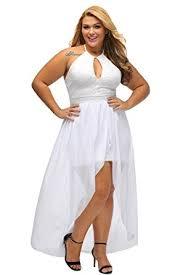 lalagen women u0027s plus size halter white lace wedding party dress