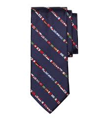 Flag Of The World Lyst Brooks Brothers Flags Of The World Tie In Blue For Men
