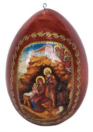 egg ornament egg ornament with icon of nativity ancient faith store