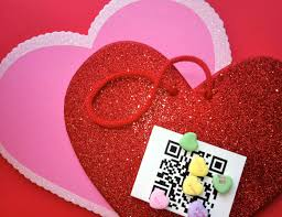 valentines for free printable qr code valentines for kids or co workers you adore