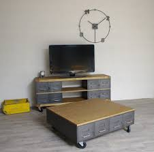 Table Salon Moderne by Table Basse Industrielle A Roulette U2013 Phaichi Com