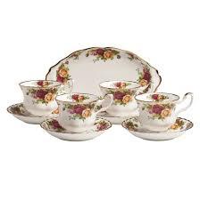 tea cup set royal albert country roses tea set reviews wayfair
