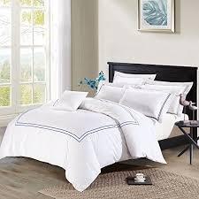 blue or white duvet cover amazon com