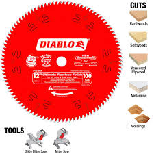 table saw blade width diablo 12 in x 100 teeth ultimate polished finish saw blade d12100x