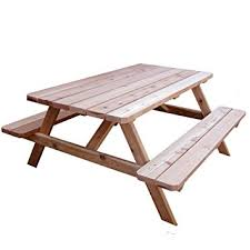 amazon com outdoor living today western red cedar picnic table