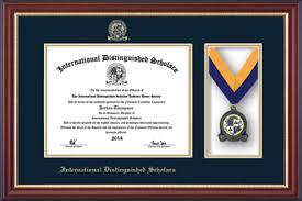 certificate frame international distinguished scholars medal certificate frame in
