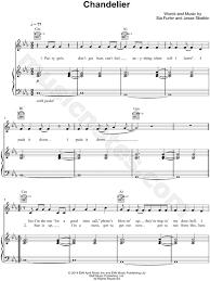 Chandelier Sia Piano Sheet Music Sia