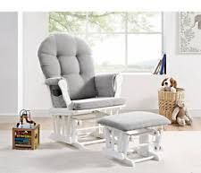 shermag valencia glider and ottoman set white dark gray fabric