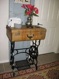 Sewing Machine With Table Old Sterling Treadle Sewing Machine Revamped To Hall Table Hometalk