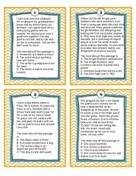 free main idea and detail pasages including comprehension