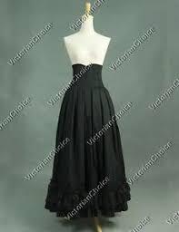 Victorian Halloween Costume Victorian Edwardian Black Skirt Witch Hogwarts Steampunk Halloween