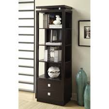 coaster corner bookcase coaster fine furniture media tower with drawers the mine