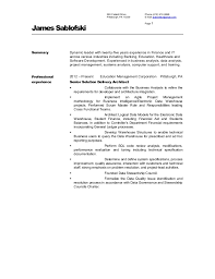 Technical Architect Sample Resume by James Sablofski Solution Architect Resume