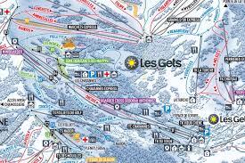 Map Of La Area Les Gets Piste Map Piste Map Of Morzine And The Portes Du Soleil