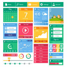 user interface design flat user interface design template and applications