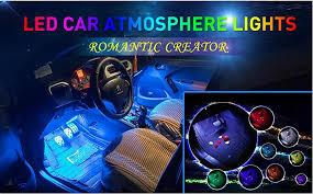Led Auto Lights Amazon Com Car Led Strip Light Wsiiroon 4pcs 48 Led Multicolor