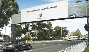 lexus cars melbourne porsche and lexus are putting up smart billboards across australia