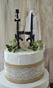 army wedding cake toppers machine gun weapon wedding cake topper army themed
