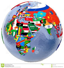 World Map Africa by Political World Map Stock Illustration Image 69781926