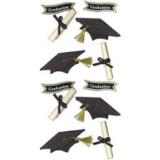 graduation cap stickers jolee s seasonal stickers graduation cap and diploma walmart