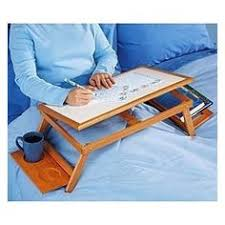 Laptop Bed Desk Solid Wood Foldable Notebook Laptop Table Adjustable Height