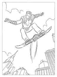 coloring page spiderman 3 coloring pages 6