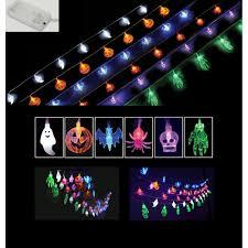 halloween party string lights ghosts pumpkins bats spiders skulls