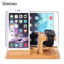 Nightstand Ipad Amazon Com Senqiao Apple Watch Stand Wooden Desktop Nightstand