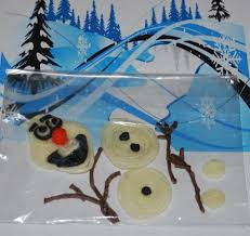 frozen inspired wikki stix build a snowman craft and treat bags