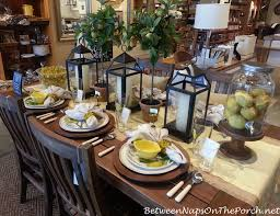 pottery barn christmas table decorations flameless candles for summer table settings