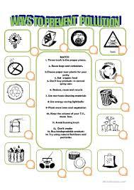 52 free esl pollution worksheets