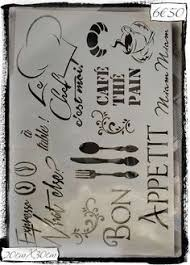 pochoir cuisine pochoir adhésif home déco 12 x 10 cm kit couture ecriture