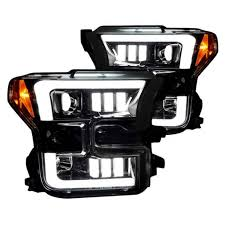 2015 f150 led fog lights recon smoked black projector led headlights for 2015 2017 ford f 150