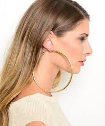 large hoop earrings gorgeous silver tone chunky twisted oversized style creole