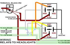 1954 chevy headlight relays