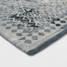 faded turquoise tapestry area rug threshold target