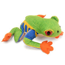 plush eyed tree frog conservation critter by wildlife artists