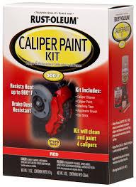 amazon com rust oleum automotive 257169 caliper kit red home