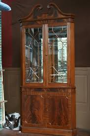 corner china hutch corner china cabinet curved glass one shelf