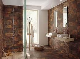 Shower Room Ideas Wood Look Tile Bathroom Floor White Vessel Shape Free Standimg