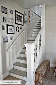 stair ideas staircase detail gray painted stairs and railing gray